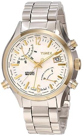 58a845668e9a Amazon.com  Timex Men s T2N945DH Intelligent Quartz World Time Watch ...