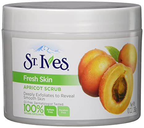St. Ives Fresh Skin Invigorating Apricot Scrub 10 oz (Pack of 4) 6 Nu-Pore Collagen Essence Facial Tissue Masks Aloe Cucumber Skin Care Cleansing