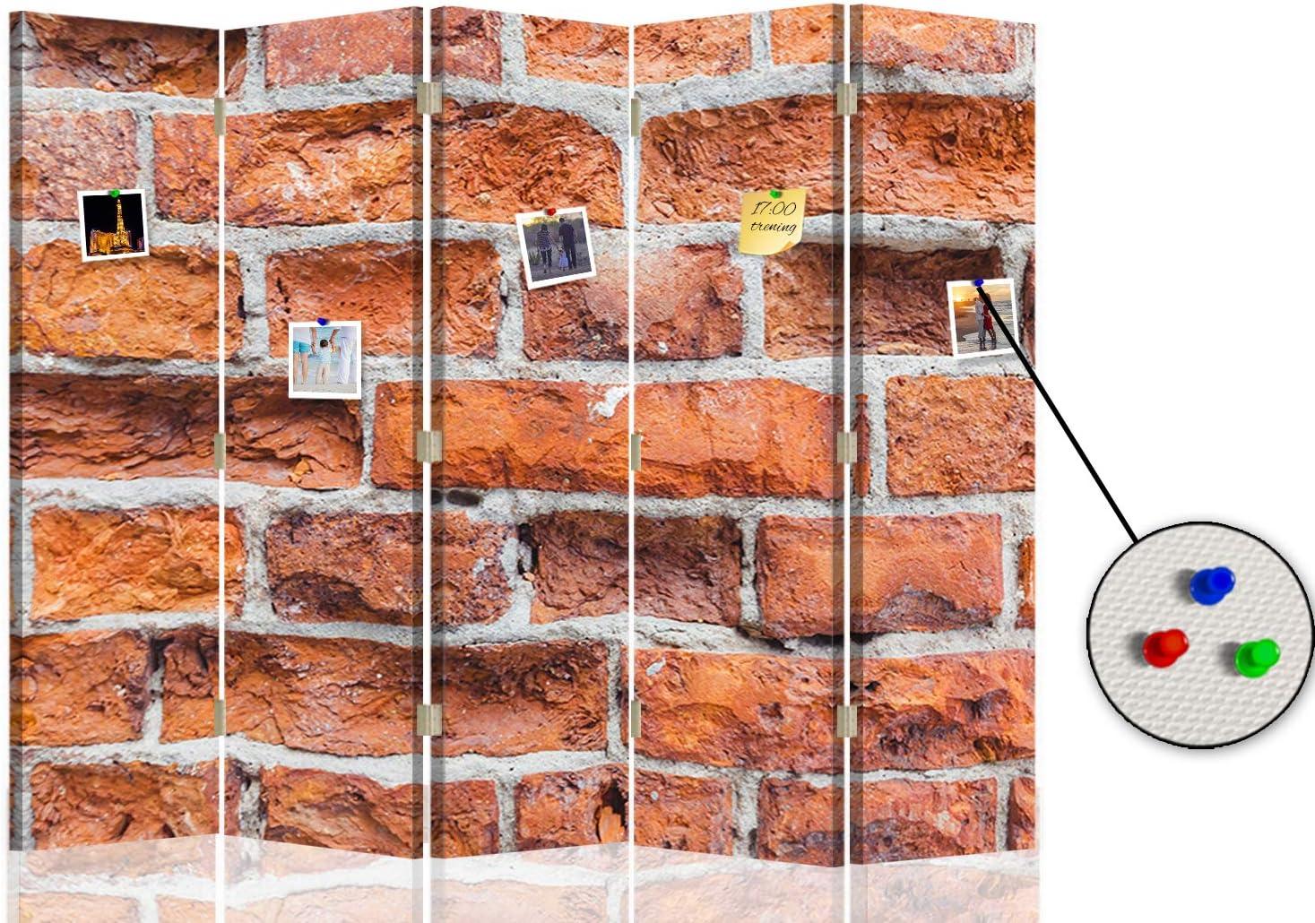 Feeby Separador Foto Corcho Ladrillos Muro 5 Paneles Unilateral ...