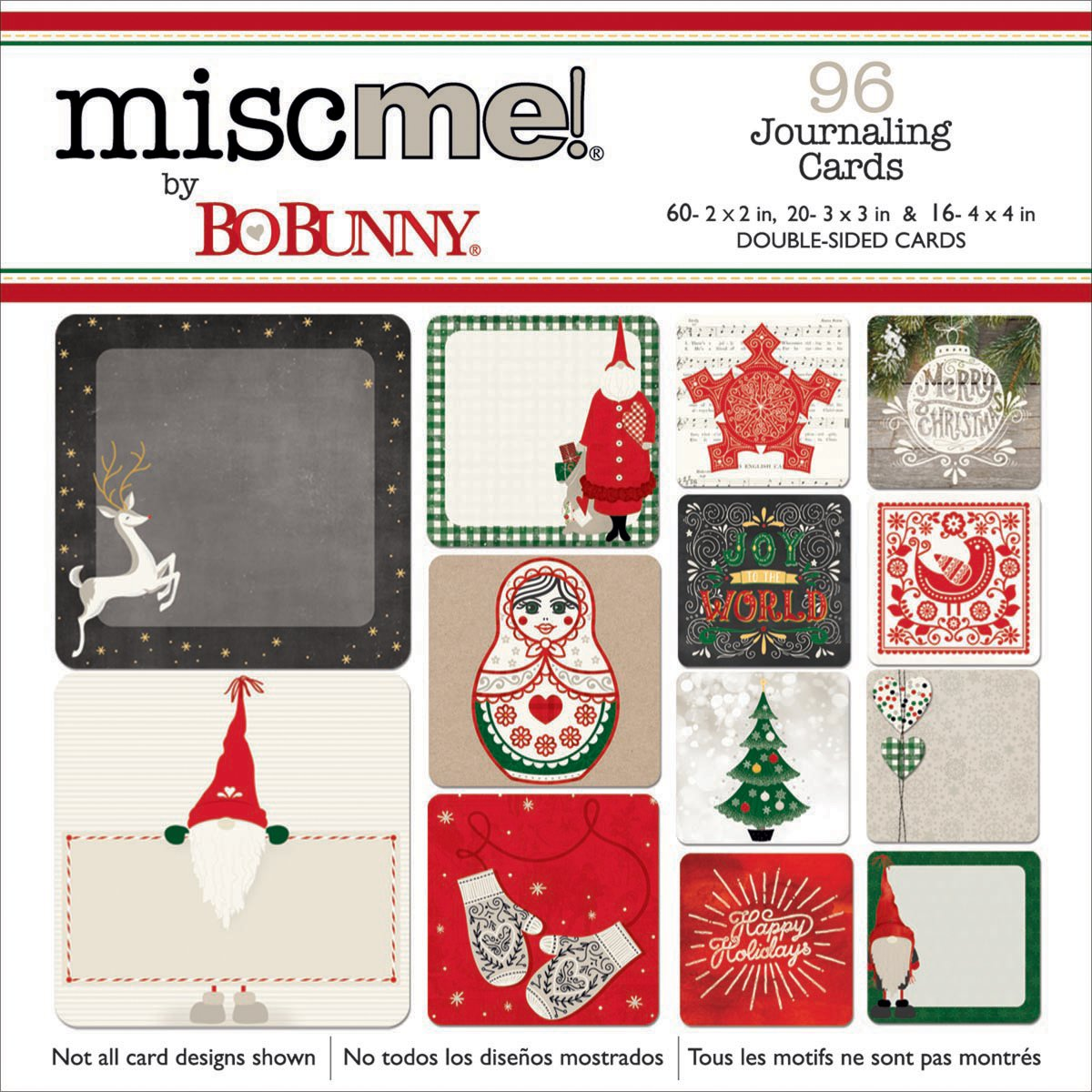 Misc Me Pocket Squares Journaling Cards 96/Pkg-Merry & Bright BoBunny 20326668