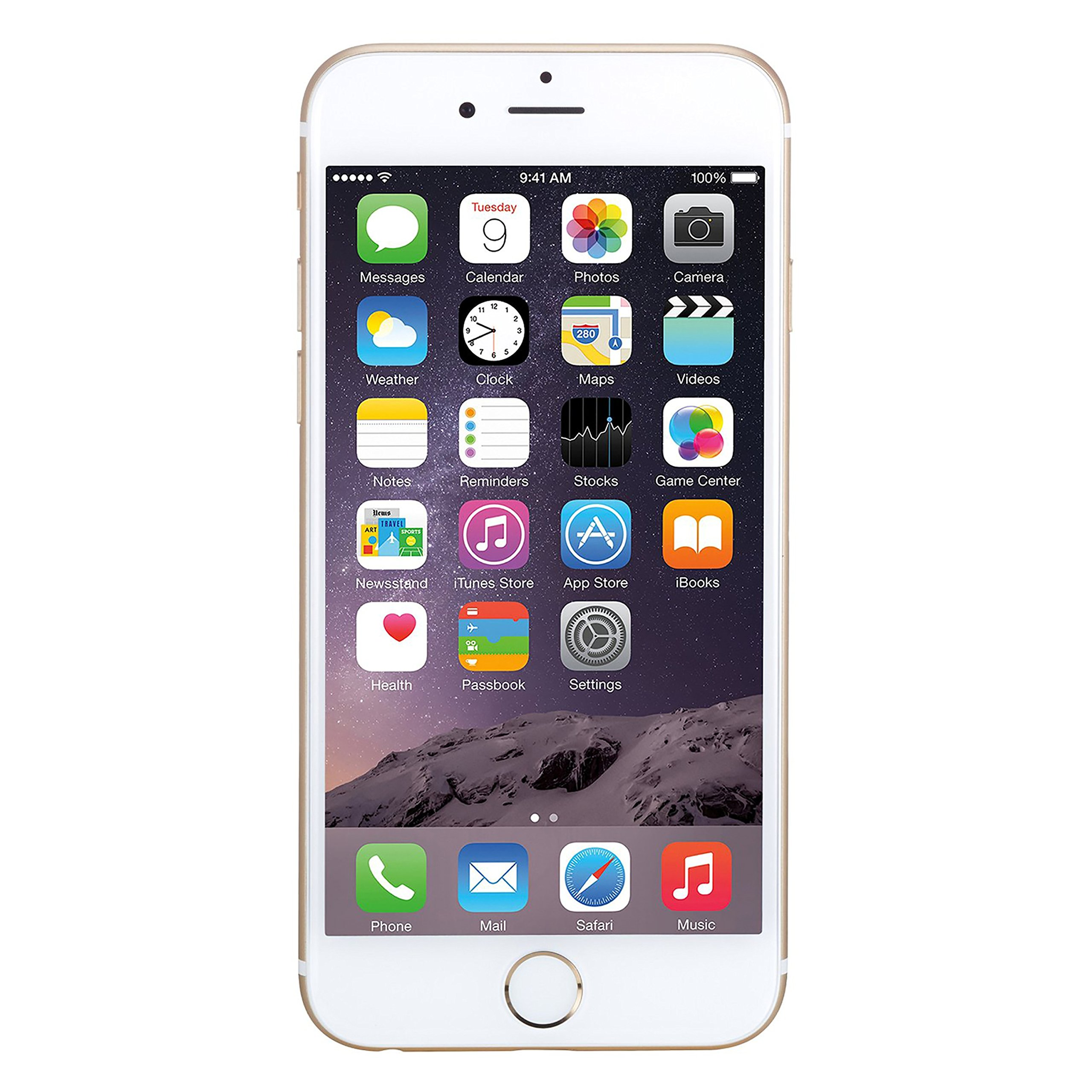 Apple iPhone 6, AT&T, 16GB - Gold (Renewed) by Apple