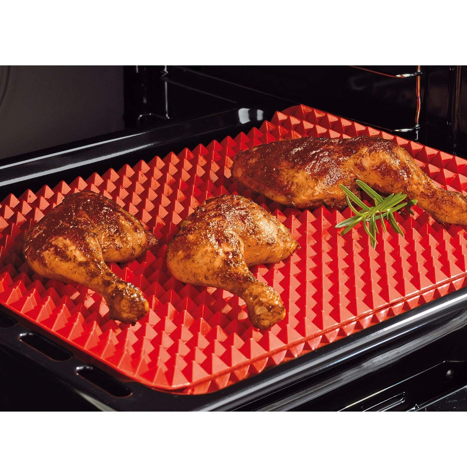 Silicone Pyramid Pan Non Stick Baking Tray Oven Cooking Mat Dishwasher Safe