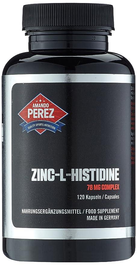 Complejo de Zinc L-Histidina - 75 mg - 25 mg de zinc elemental por