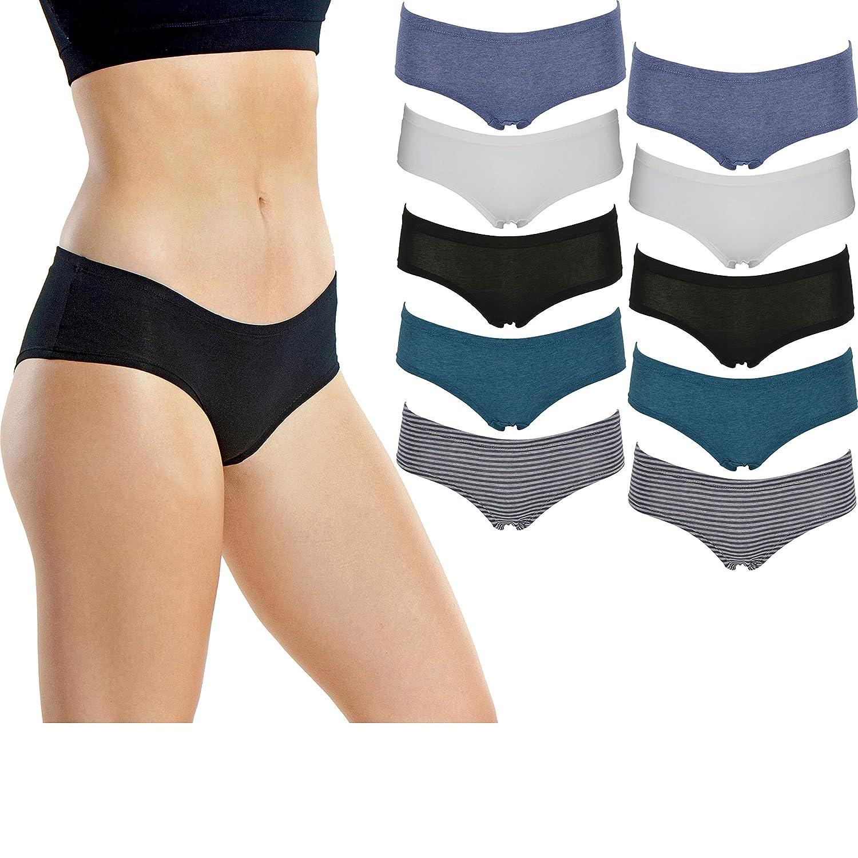 ebcfd12f525 Emprella Women's Boyshort Panties Comfort Pack Ultra-Soft Cotton Underwear