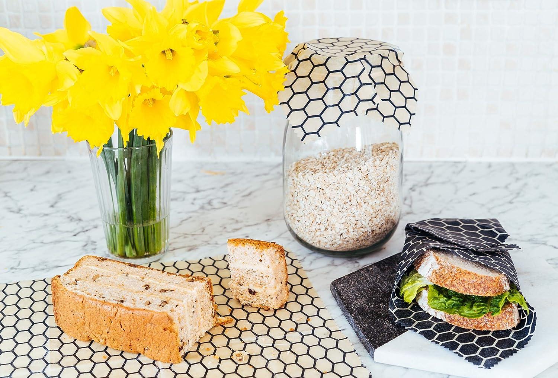 Beehive Org/ánica Envoltorio de cera de abeja para alimentos Fruity Paquete de 4 Introducir estas reutilizable envolturas ecol/ógicas y dile adi/ós al pl/ástico y pel/ícula adhesiva para siempre