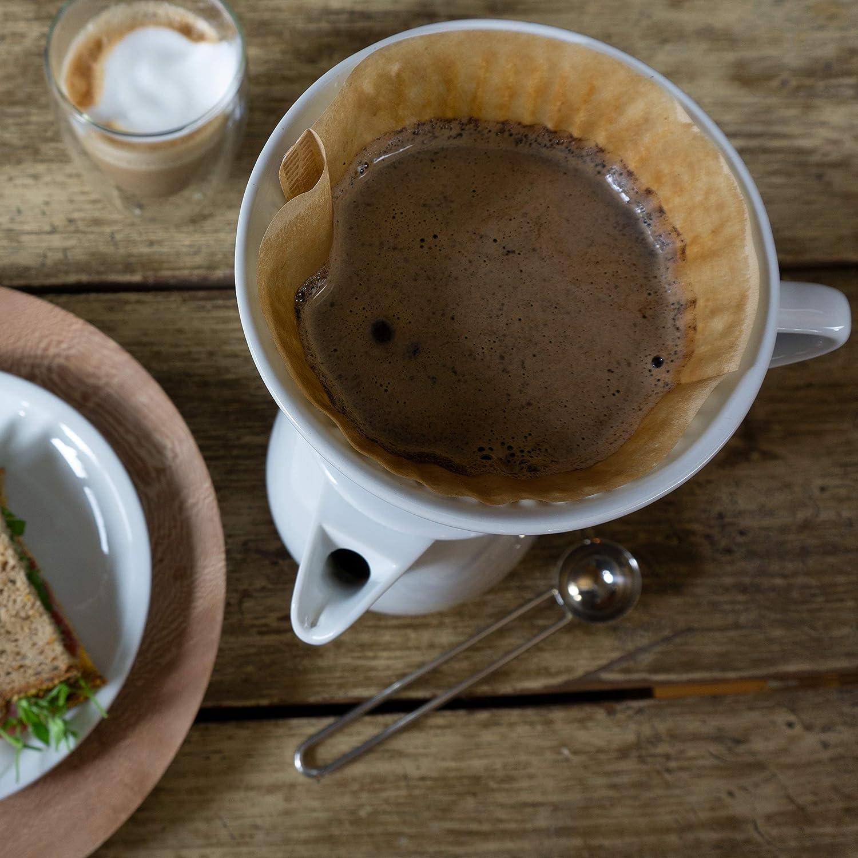 Dauerfilter f/ür Kaffeefiltert/üten der Gr/ö/ße 4 Caff/é Italia Permanent Kaffeefilter f/ür Kaffeekannen Porzellan Kaffeefilter Handfilter Kaffee f/ür 2-4 Tassen wei/ß