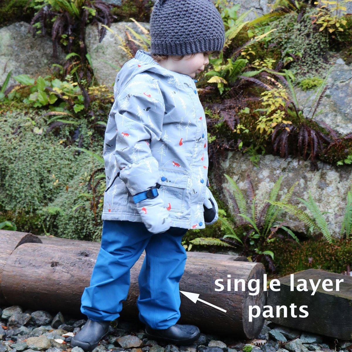 Kids Water-Proof Fleece-Lined Or Single Layer Rain Pants Twinklebelle design inc 06-7XX
