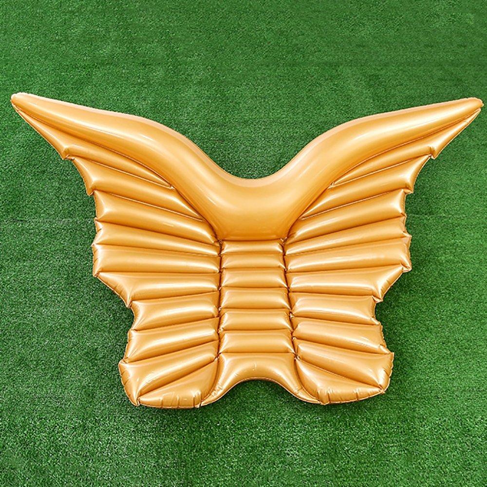 Engelsflügel Schwimmende Matte Aufblasbares sich hin- und herbewegendes Bett Engels-Flügel Strandurlaub-Schwimmenring (Farbe   Gold)B07DGT9T98Luftmatratzen & AufblasartikelPrimäre Qualität  | Stilvoll und lustig