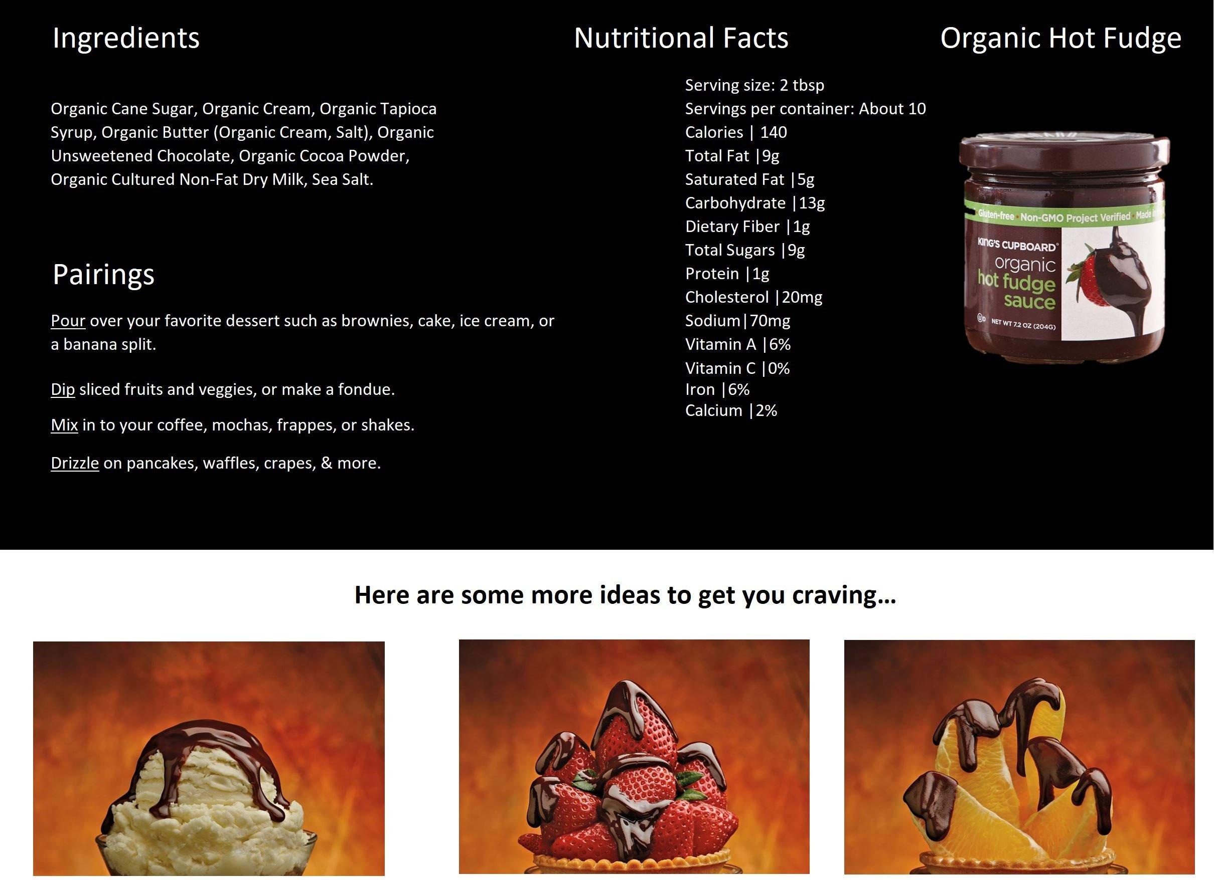The King's Cupboard Original Organic Sampler Gift Set of Hot Fudge & Caramel Sauce by The King's Cupboard (Image #3)