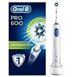 Oral-B PRO 600 CrossAction Spazzolino Elettrico Ricaricabile con 1 Manico e 1 Testina