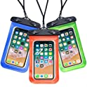 3-Pack Egchi Universal Waterproof Cell Phone Pouch