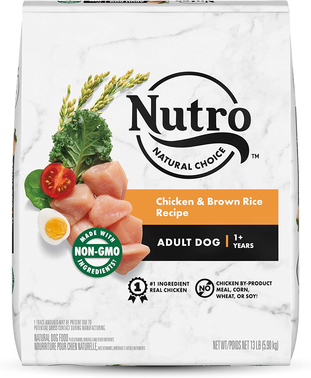 NUTRO Natural Choice Adult Dry Dog Food, Chicken & Brown Rice Recipe Dog Kibble, 13 lb. Bag