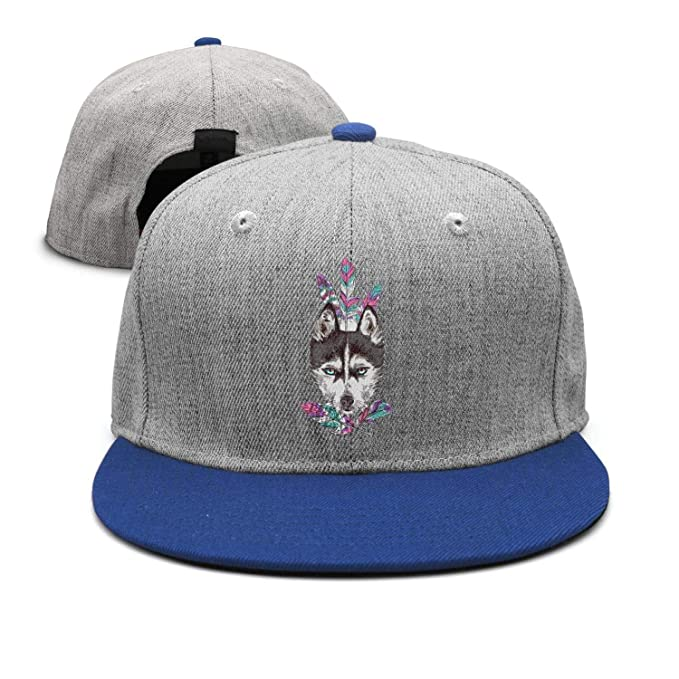 75d327296e080 Unisex Adult Sketch Dog Feather Custom Adjustable Snapback Cap at ...