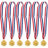Juvale 6-Pack Gold Medal Set - Olympic Style Winner Award Medals for Sports, Competitions, Spelling Bees, Party Favors…