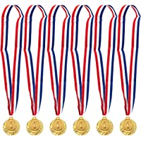 Juego de 6 medallas de Oro, medallas de Estilo olímpico, premios de Ganador, Deportes, competiciones, ortografía de Abejas, Regalos de Fiesta