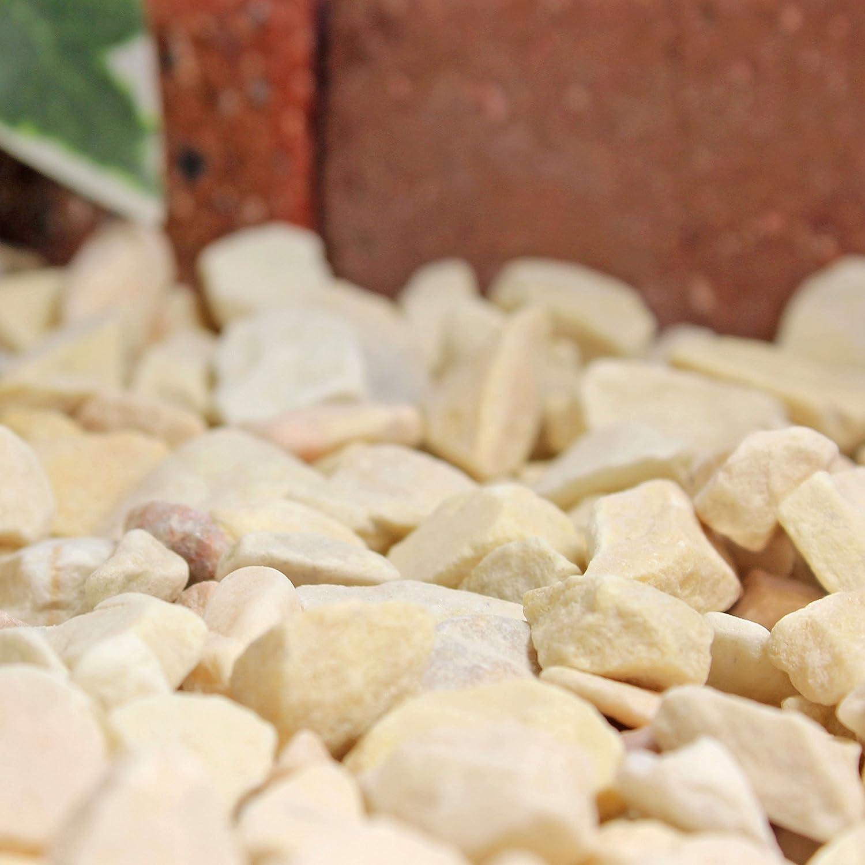 砂利 クラッシュマーブライト イエロー 5-13mm 20kg(12.5L)×30袋セット 【600kg】 B01543J11Q  600kg