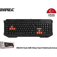 Everest Kb-961F, Multimedia F Ingilizce Klavye, Siyah