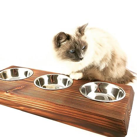 El Palo Alemania Comedero para animales, gatos Bar, comida, acero inoxidable napf Loui