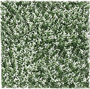 """SunnyRoyalArtificial Boxwood Panels Topiary Hedge Plant UV Protected Privacy Ivy ScreenFaux Greenery Wall Décor Outdoor Indoor Use Backyard Garden Decoration 20"""" x 20"""", Buxus White 6 Pieces"""