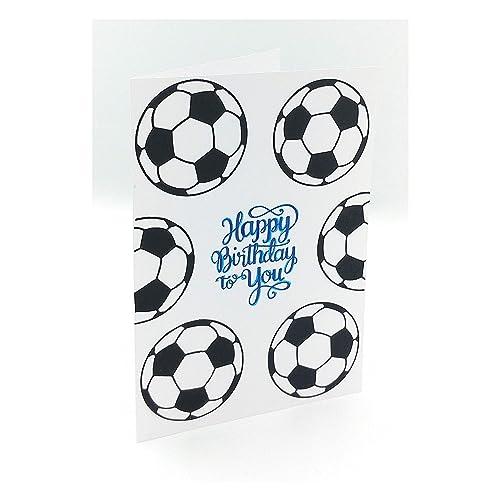Carte Anniversaire Foot Carte Football Carte Anniversaire Enfant Carte De Voeux Carte D Anniversaire Garcon Carte Happy Birthday To You Carte Joyeux Anniversaire Carte Double Amazon Fr Handmade