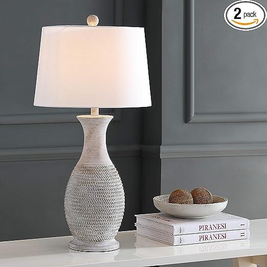 Safavieh Tbl4131a Set2 Lighting Collection Bentlee Grey 30 Inch Table Lamp H Amazon Com
