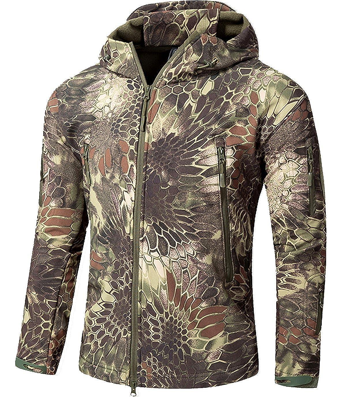 Impermeable militar táctica lucha contra la chaqueta de Softshell camping al aire libre caminar camuflaje Hoodie Coat YFNT