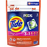 Tide PODS, Laundry Detergent Liquid Pacs, Fresh Coral Blast, 31 Count - Packaging May Vary
