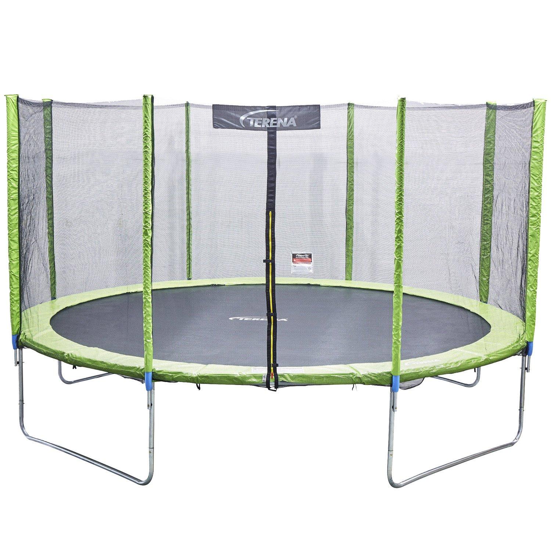 Terena® Trampolin 427 cm mit Netz Sicherheitsnetz Gartentrampolin für Kinder 14ft …