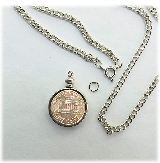 Old Penny in an Old Bezel 1953D For Necklace or Charm Bracelet A Penny for your Thoughts CT353D