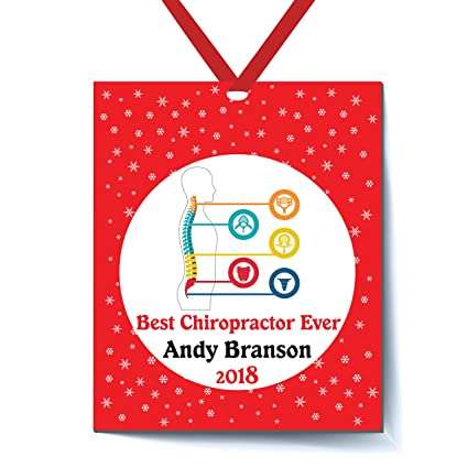 Best Chiropractor Ever Personalized Ornament, Personalized Christmas  Ornaments Greatest Chiropractor Ornament, Xmas Christmas Tree - Amazon.com: Best Chiropractor Ever Personalized Ornament