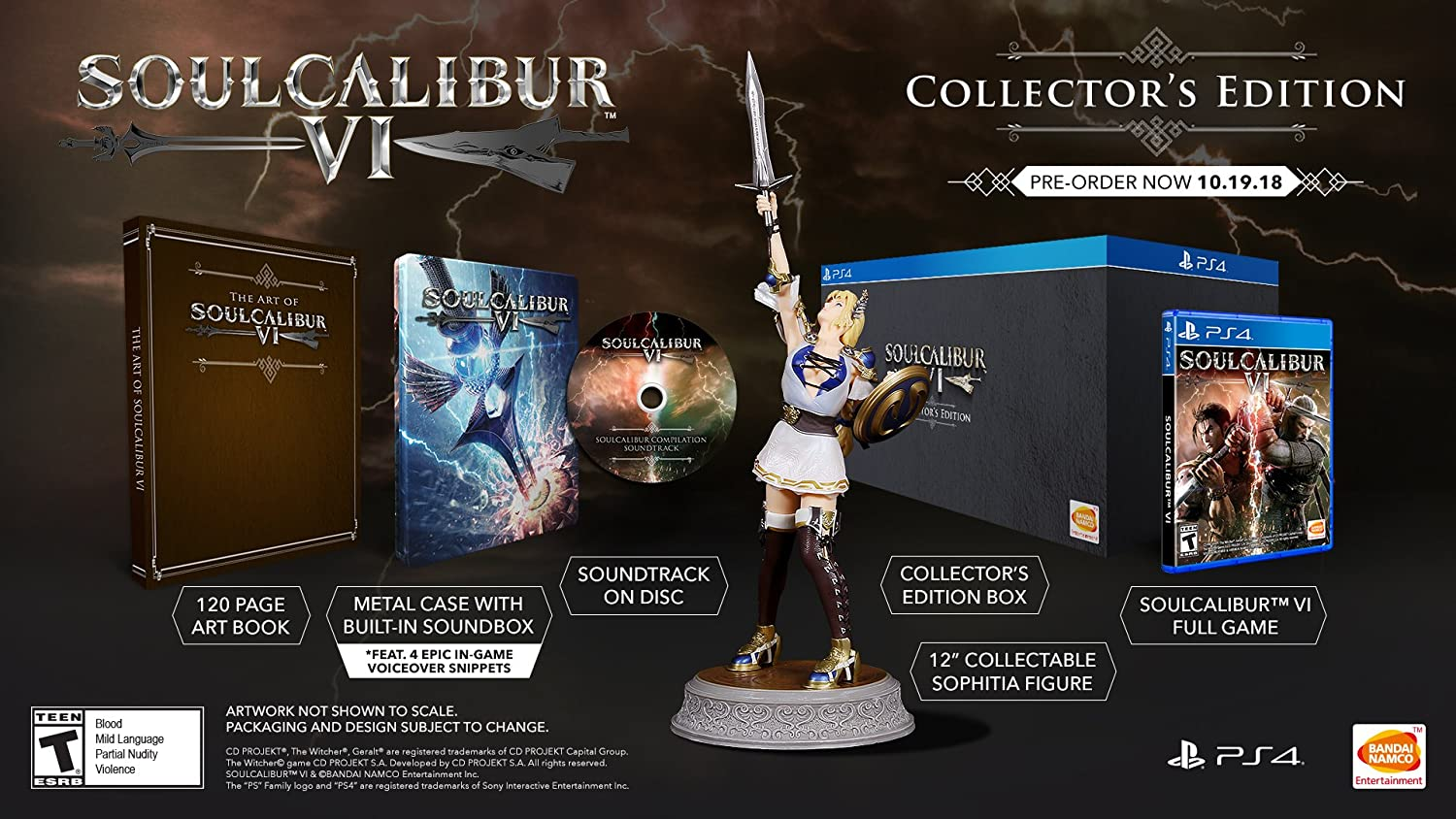 Amazon Com Soulcalibur Vi Playstation 4 Collector S Edition