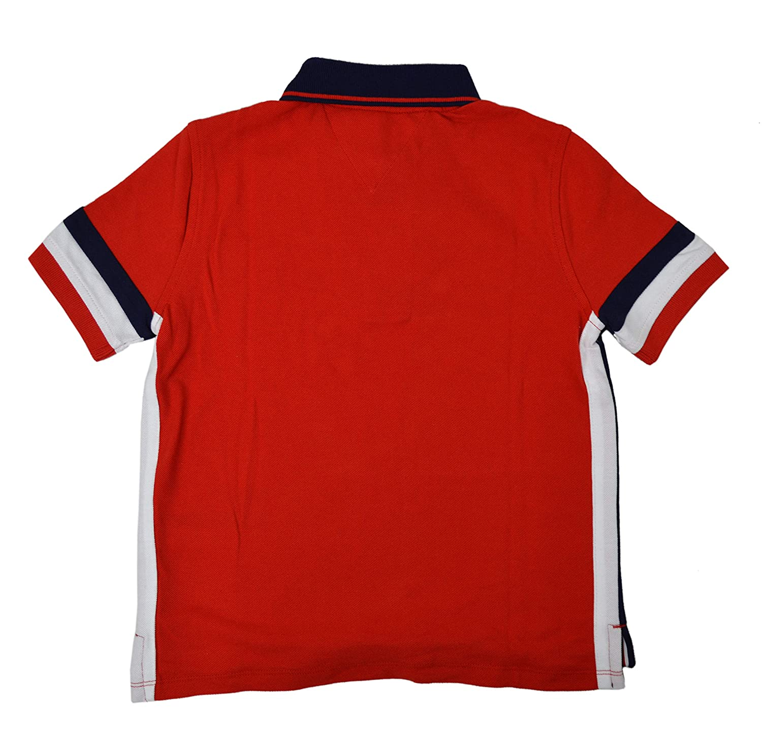 ff607234 Amazon.com: Tommy Hilfiger Boys Kids Mesh Hilfiger Patch Side Striped Polo  Shirt Red Navy Blue White: Clothing