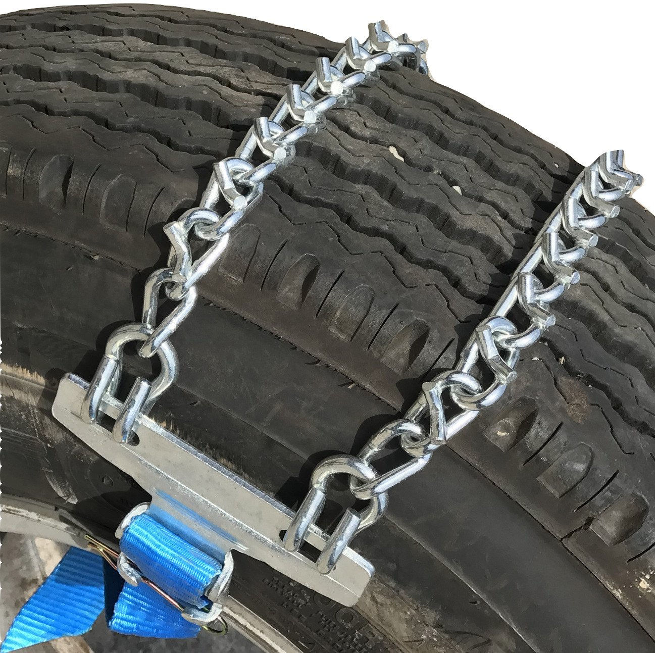 TireChain.com V-Bar Emergency Strap tire chains for Large Trucks - fits tire sizes larger than 275 mm-, priced per pair