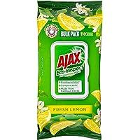 Ajax Eco Multipurpose Antibacterial Disinfectant Biodegradable Surface Cleaning Wipes, Fresh Lemon Bulk Pack, 110 Pack