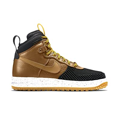 Nike Men s Lunar Force 1 Duckboot Boot Black/Light British Tan 9.5 D(