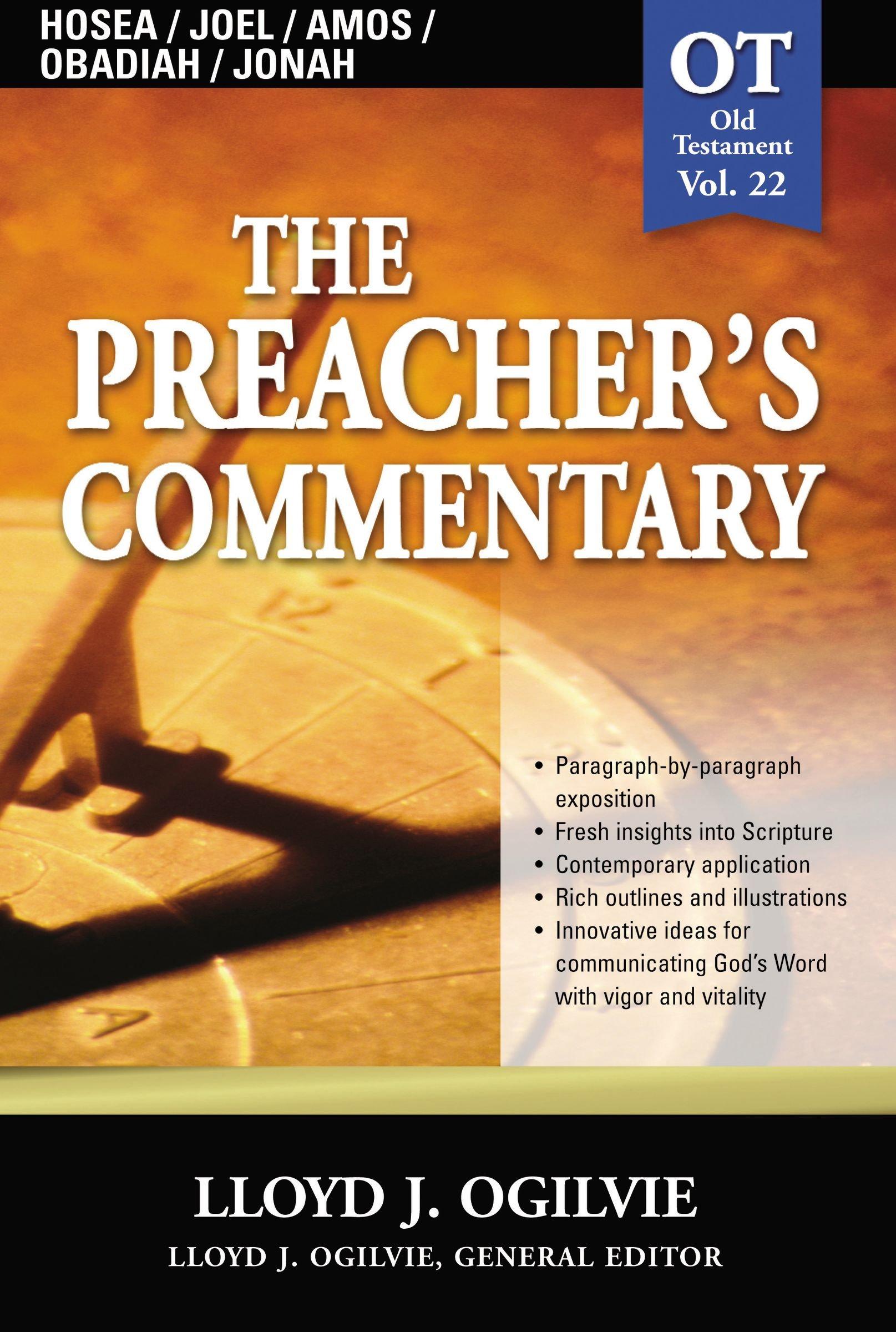 Download Preacher's Commentary, Vol. 22: Hosea/Joel/Amos/Obadiah/Jonah ebook