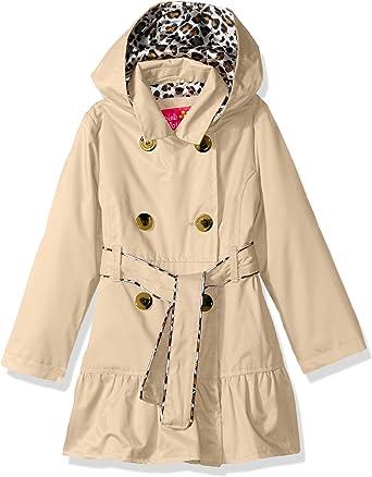Hotmiss Girls Hooded Trench Coat Jacket Dress Windbreaker Outwear
