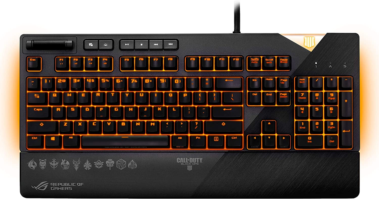 ASUS ROG Strix Flare Call of Duty Black Ops 4 Edition Gaming Keyboard
