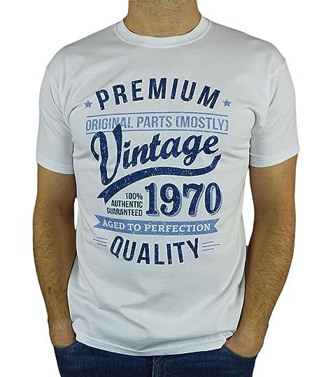 My Generation Gifts 1970 Vintage Year - Aged to Perfection - 50 Cumpleaños Años - Regalo de Cumpleaños Camiseta para Hombre