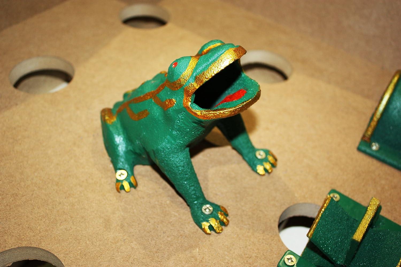 traditionnel Jeu de la grenouille bois jeu de tonneau