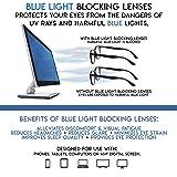Computer Glasses 2 Pairs Anti Glare Anti Reflection