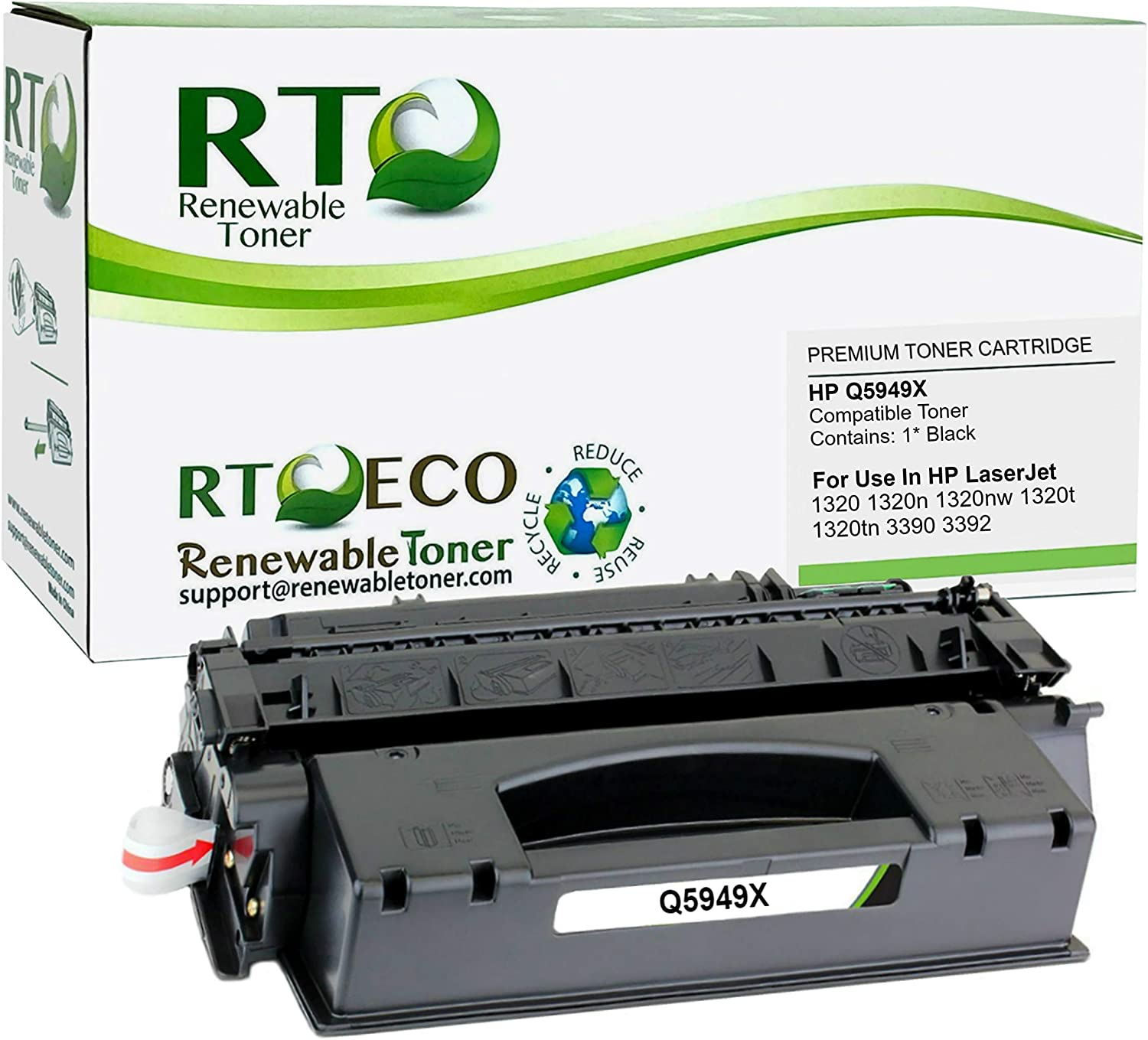 Renewable Toner Compatible High Yield Toner Cartridge Replacement for HP 49X Q5949X Laserjet 1320 3390 3392