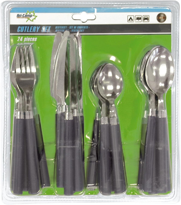 Bo-Camp Cutlery Set 2 - Set de Cubiertos, 24 Piezas