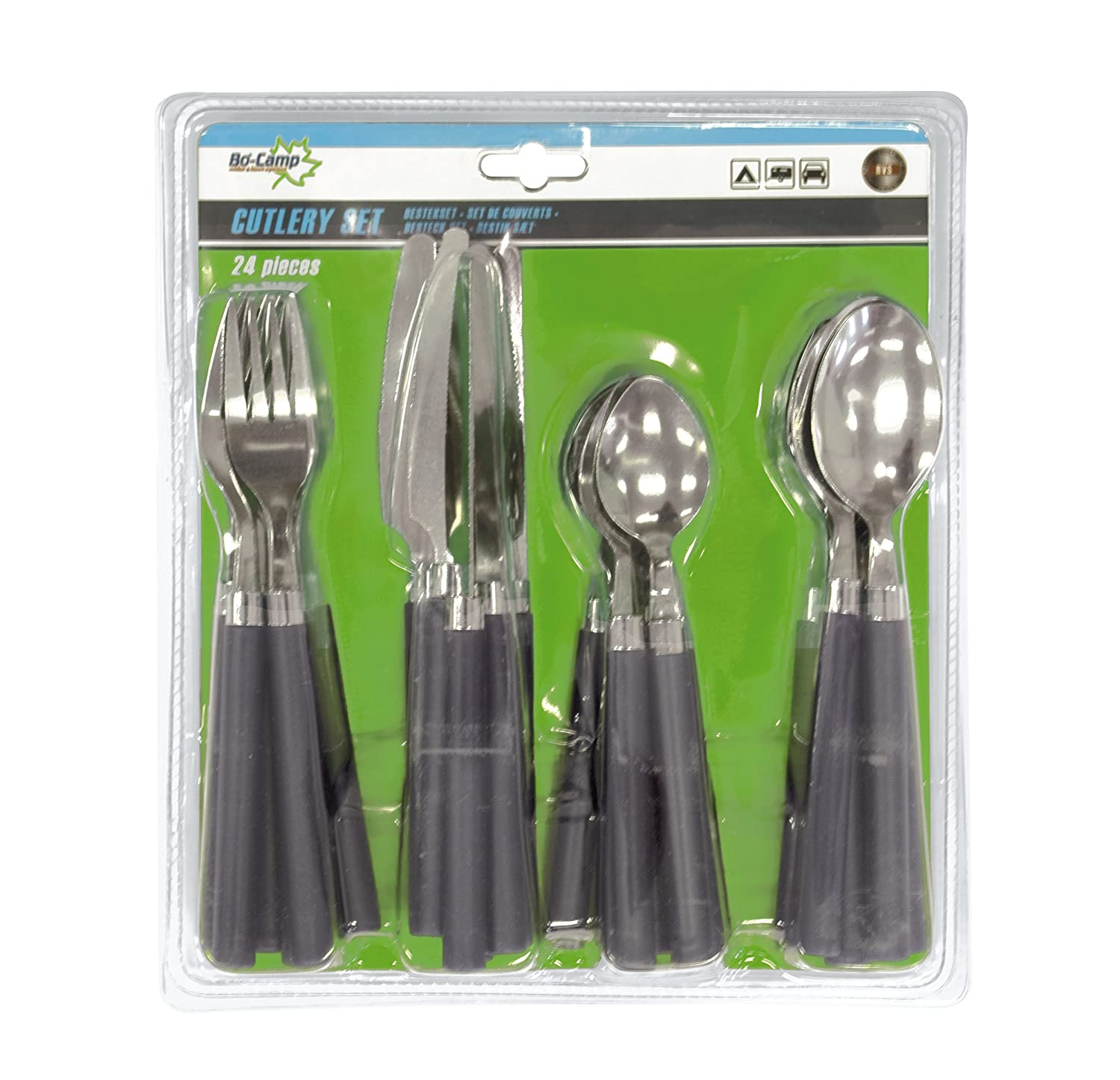 Bo-Camp - Cutlery in blister pack 24 piece 6 pers. 6102104
