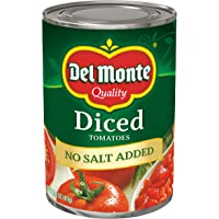 Del Monte Diced Tomatoes No Salt Added, 14.5-Ounce