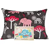 "Amazon Price History for:Little Sleepy Head Toddler Pillowcase - Cuddle Collection (jungle Pink), Brown, 13"" X 18"""