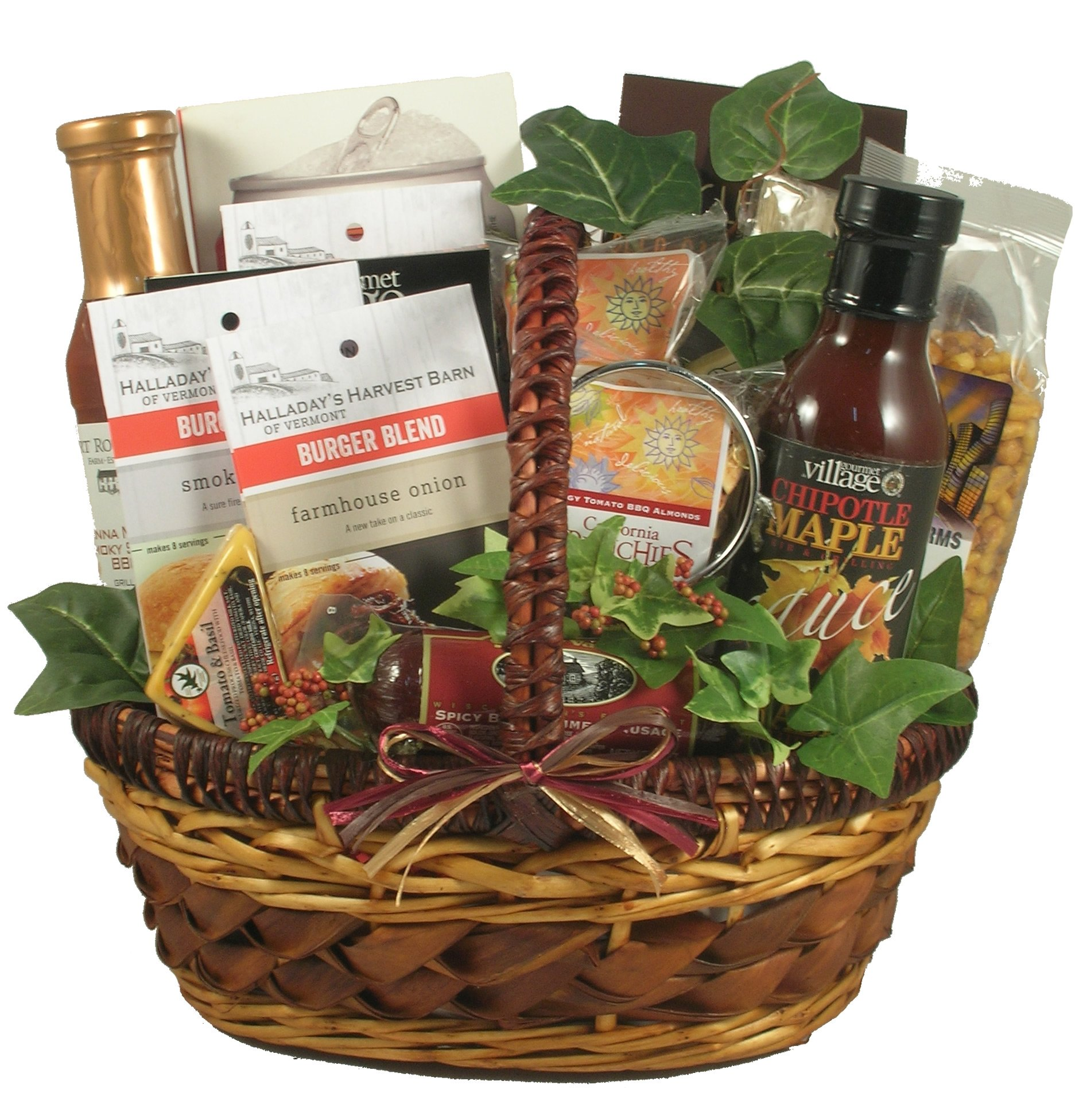 King Of The Grill - Grilling Gift Basket For Men With Rubs, Recipes, Beer Can Chicken Roaster, Sauces, 9 lb