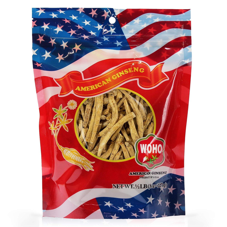 WOHO American Ginseng 124.8 Prong Small 8oz. Bag