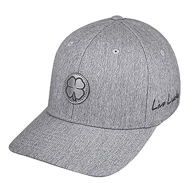 663af2a3e22 Black Clover Sharp Luck Gray Flexfit Hat at Amazon Men s Clothing store