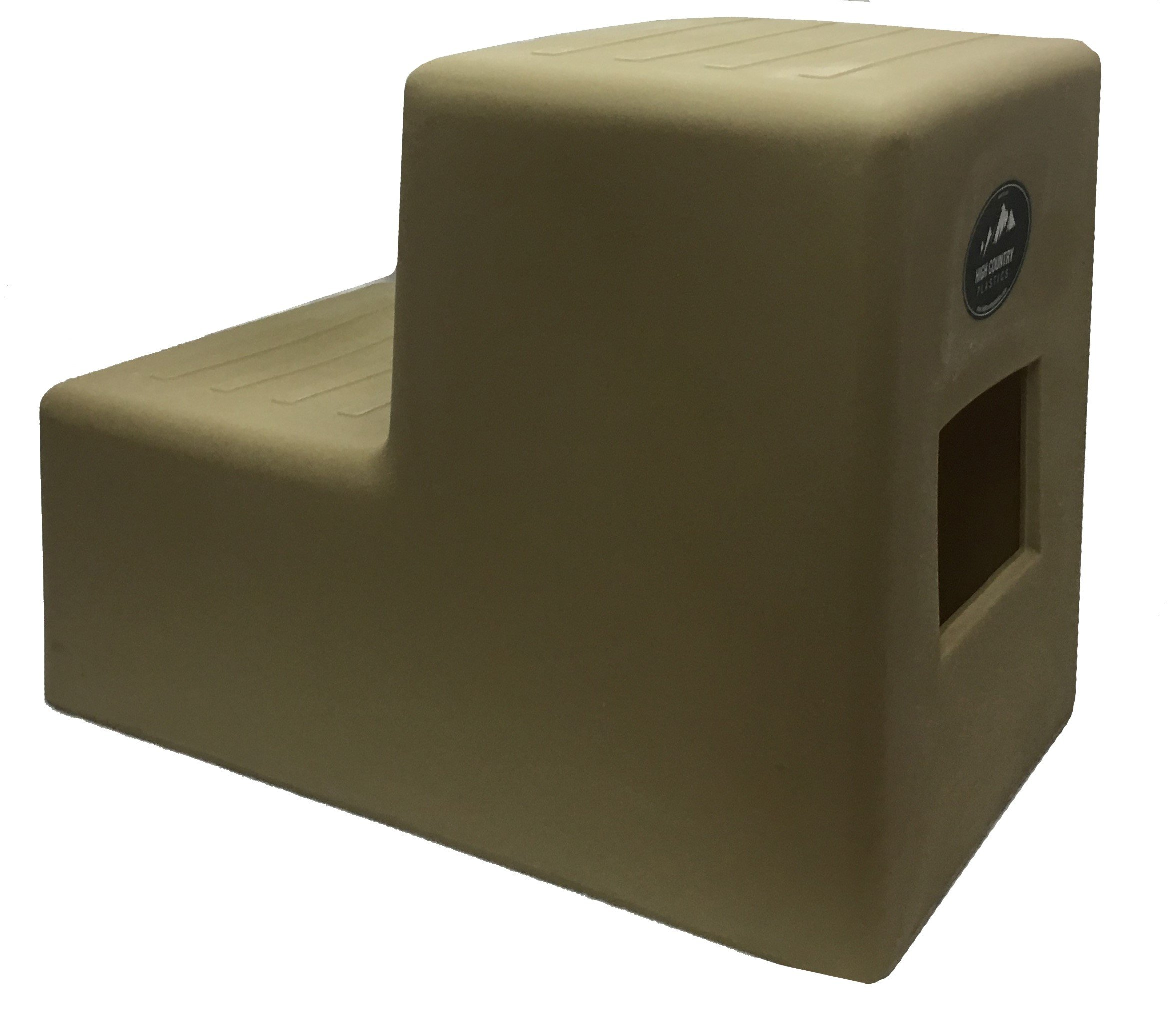 High Country Plastics Mounting Step, 19'', Two Step -Tan, Medium by High Country Plastics
